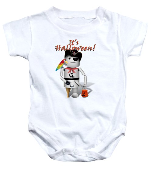 Trick Or Treat Time For Robo-x9 Baby Onesie