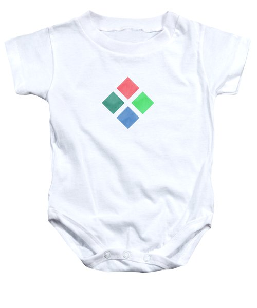 Watercolor Geometric Background Baby Onesie