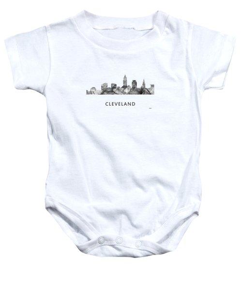 Cleveland Ohio Skyline Baby Onesie