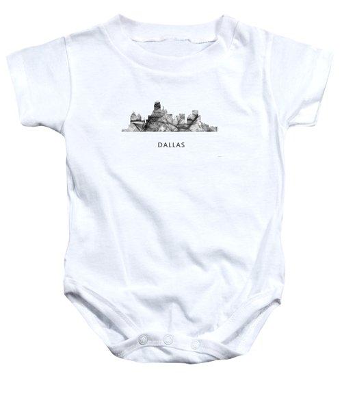 Dallas Texas Skyline Baby Onesie by Marlene Watson