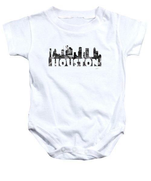 Houston Texas Skyline Baby Onesie