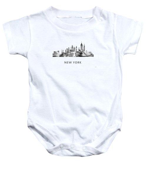 New York New York Skyline Baby Onesie by Marlene Watson