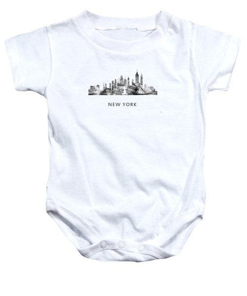 New York New York Skyline Baby Onesie