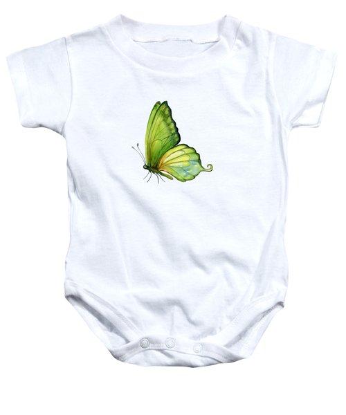 5 Sap Green Butterfly Baby Onesie by Amy Kirkpatrick