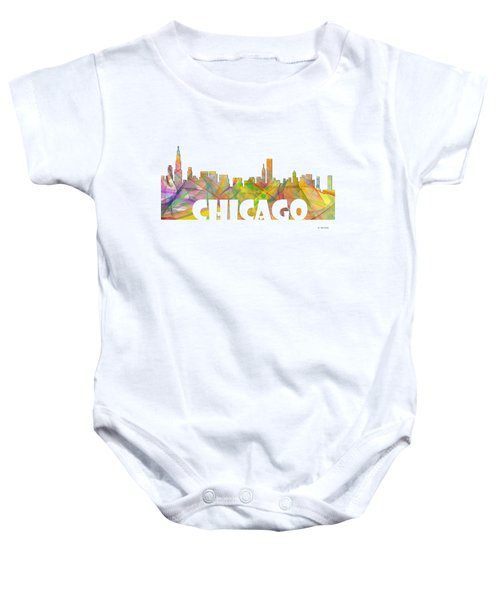 Chicago Illinois Skyline Baby Onesie