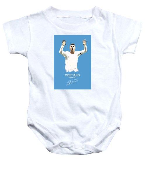 Cristiano Ronaldo Baby Onesie by Semih Yurdabak
