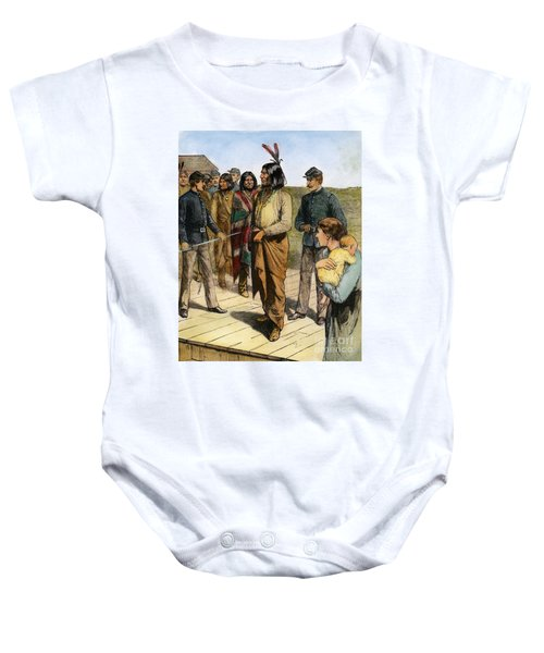Geronimo 1829-1909.  To License For Professional Use Visit Granger.com Baby Onesie