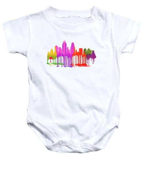 Cincinnati Ohio Skyline  Baby Onesie