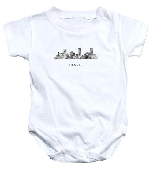 Denver Colorado Skyline Baby Onesie