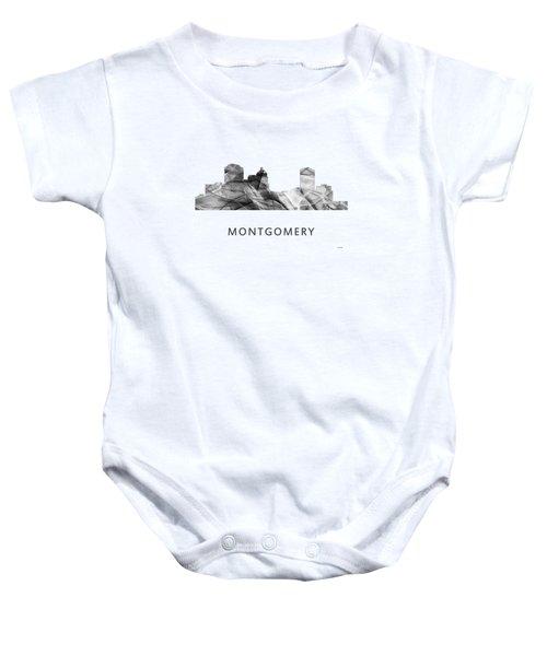 Montgomery Alabama Skyline Baby Onesie by Marlene Watson