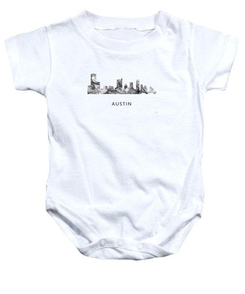 Austin Texas Skyline Baby Onesie by Marlene Watson