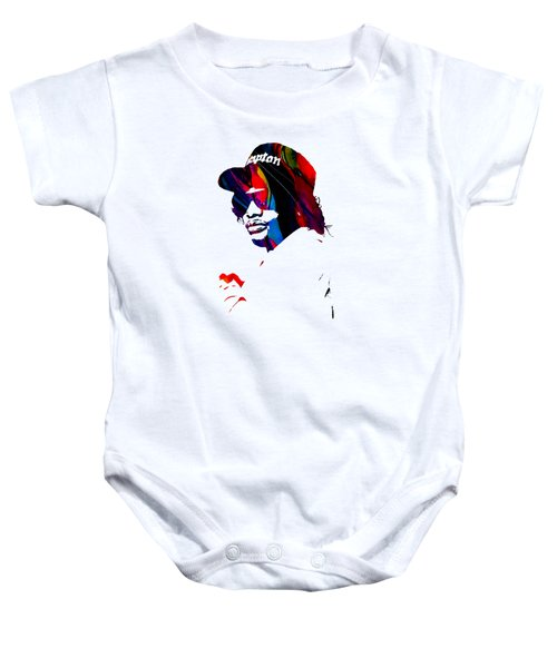 Eazy E Straight Outta Compton Baby Onesie by Marvin Blaine