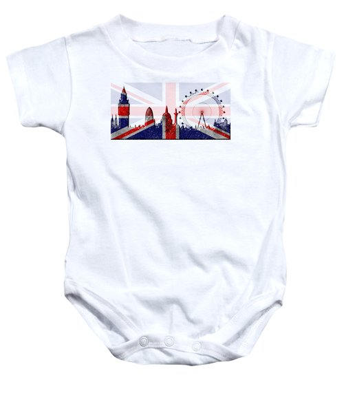 London Skyline Baby Onesie by Michal Boubin