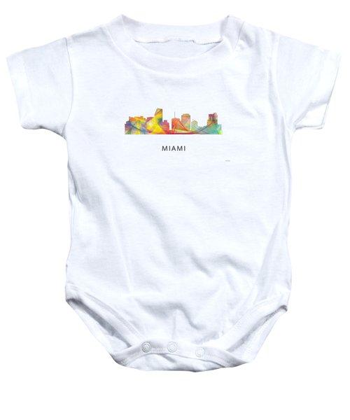 Miami Florida Skyline Baby Onesie