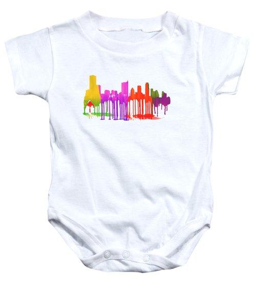 Austin Texas Skyline Baby Onesie