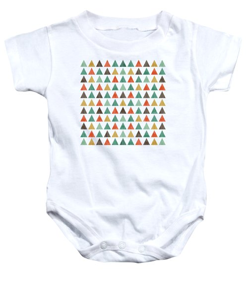 Colorful Geometric Background Baby Onesie