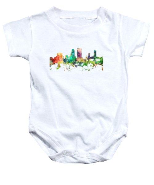 Jacksonville Florida Skyline Baby Onesie by Marlene Watson