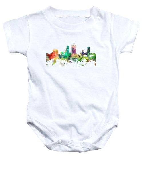 Jacksonville Florida Skyline Baby Onesie