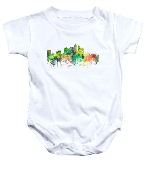 Los Angeles California Skyline Baby Onesie by Marlene Watson