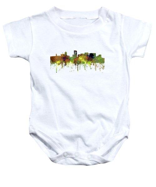Portland Oregon Skyline Baby Onesie
