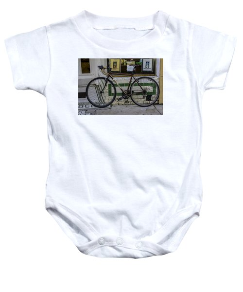 A Bicycle In The French Quarter, New Orleans, Louisiana Baby Onesie