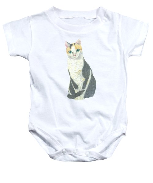 A Calico Cat Baby Onesie