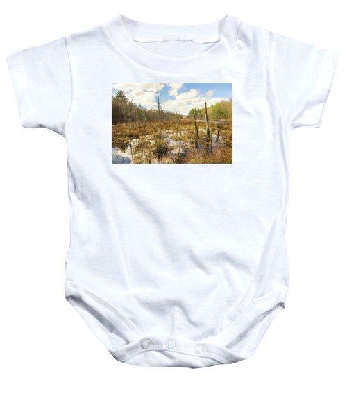 A Connecticut Marsh Baby Onesie