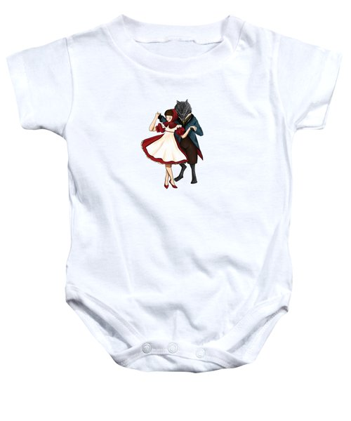 A Dangerous Dance Red Hood And The Wolf Art Print Baby Onesie