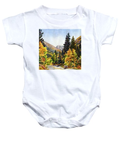 A Drive In The Mountains Baby Onesie