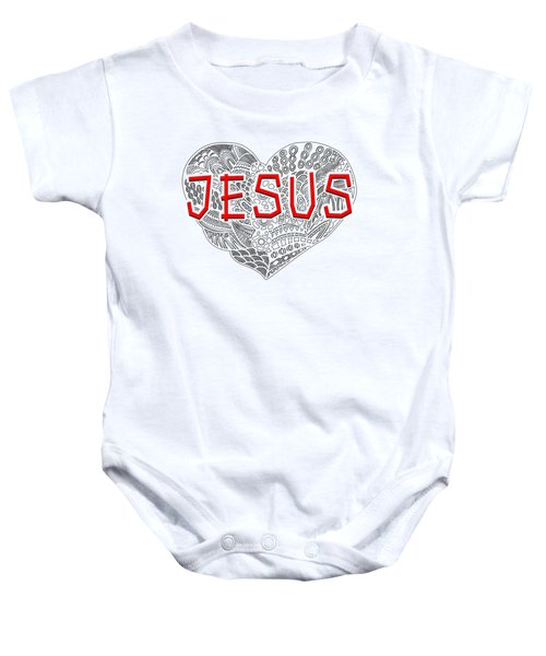 A Heart For Jesus Baby Onesie