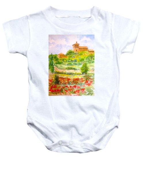 A Hillside Near San Gimignano Baby Onesie