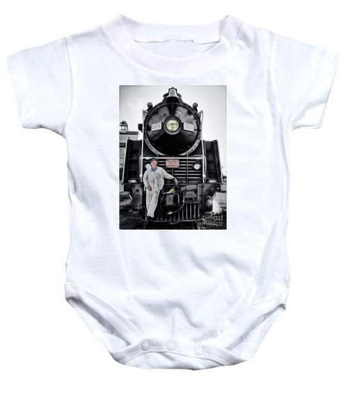 A Man And His Locomotive Baby Onesie