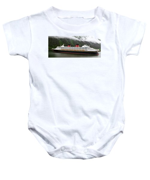 A Mickey Mouse Cruise Ship Baby Onesie
