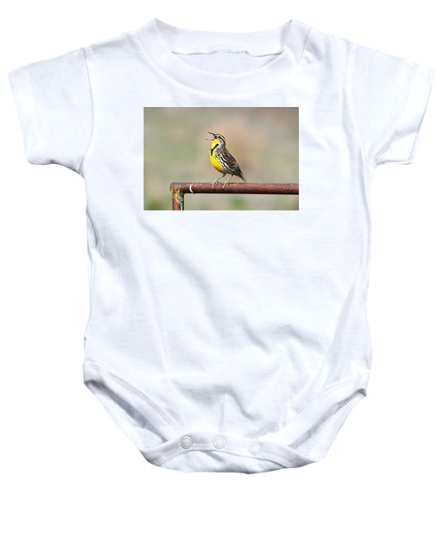A Morning Song Baby Onesie by Michael Morse
