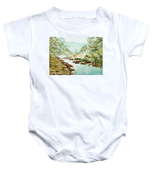 A Quiet Stream In Tasmania Baby Onesie