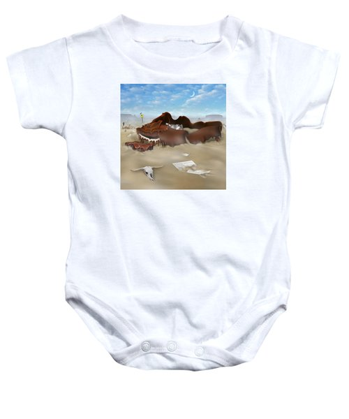 A Slow Death In Piano Valley Sq Baby Onesie