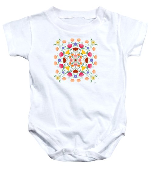 A Symphony Of Dancing Floral Delights Baby Onesie