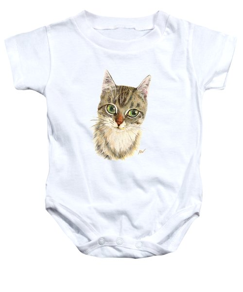 A Thinking Cat Baby Onesie