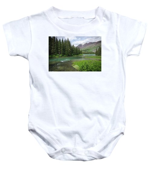 A Walk In The Forest Baby Onesie