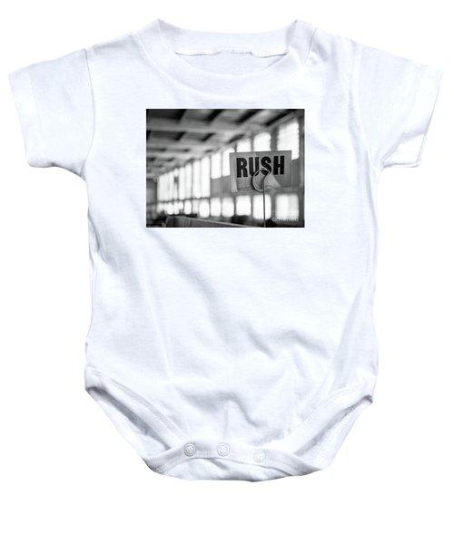 Abandoned Factory, Lewiston, Maine  -48683-bw Baby Onesie
