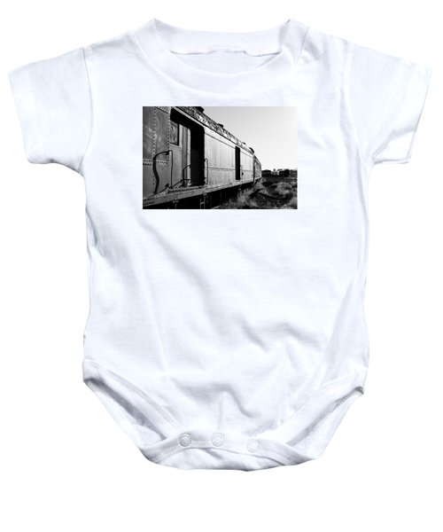 Abandoned Train Cars Baby Onesie