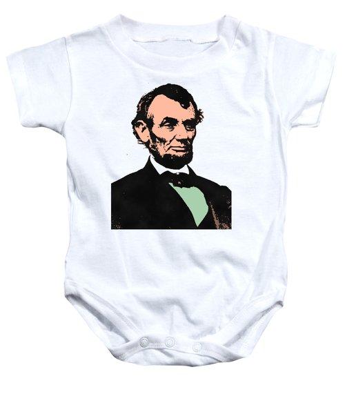 Abe Lincoln 2 Baby Onesie by Otis Porritt