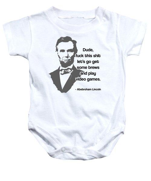 Abebroham Lincoln Baby Onesie by Michelle Murphy