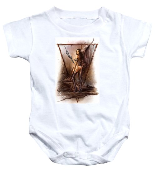 About Elves And Steel  Baby Onesie