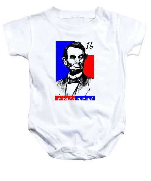 Abraham Lincoln 16 Baby Onesie