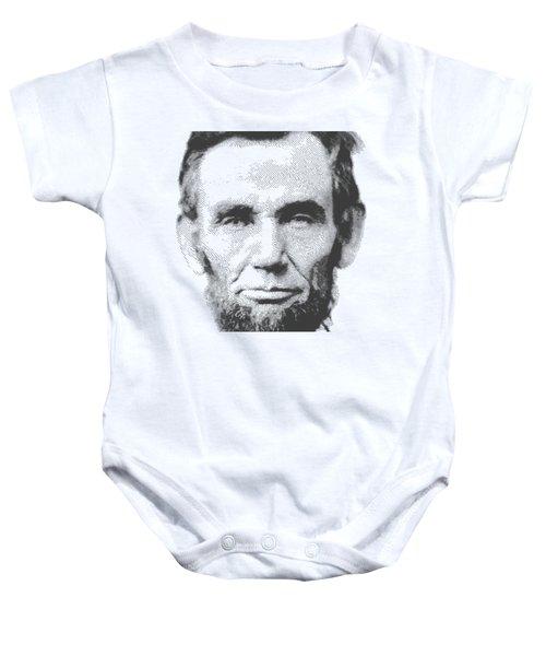Abraham Lincoln - Parallel Hatching Baby Onesie by Samuel Majcen