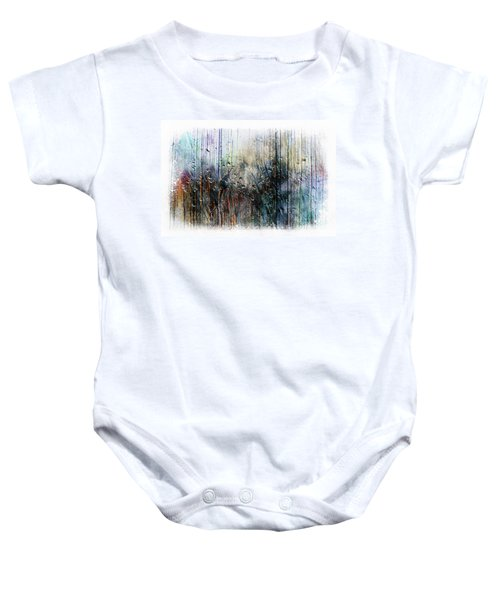 2f Abstract Expressionism Digital Painting Baby Onesie