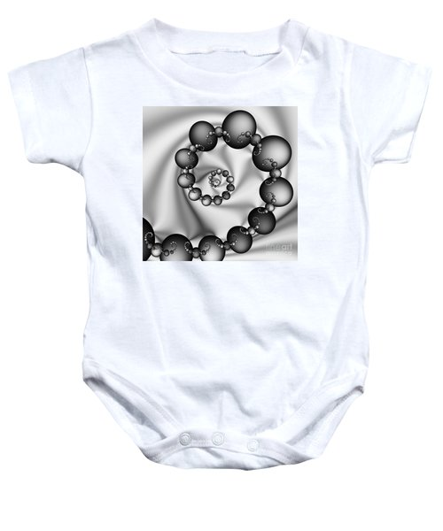 Abstract 537 Bw Baby Onesie