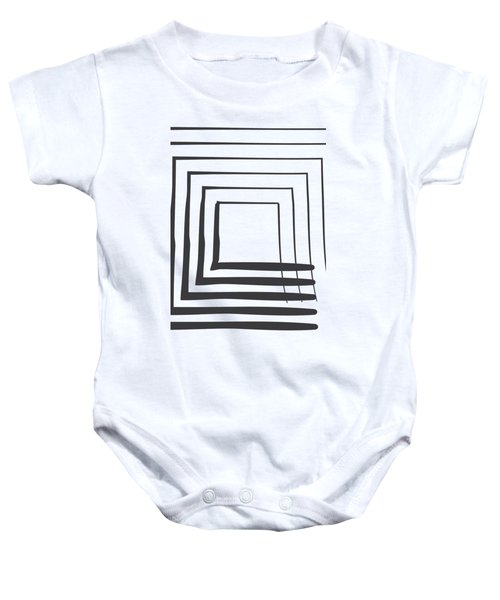 Abstract Art Perspective - Square Baby Onesie