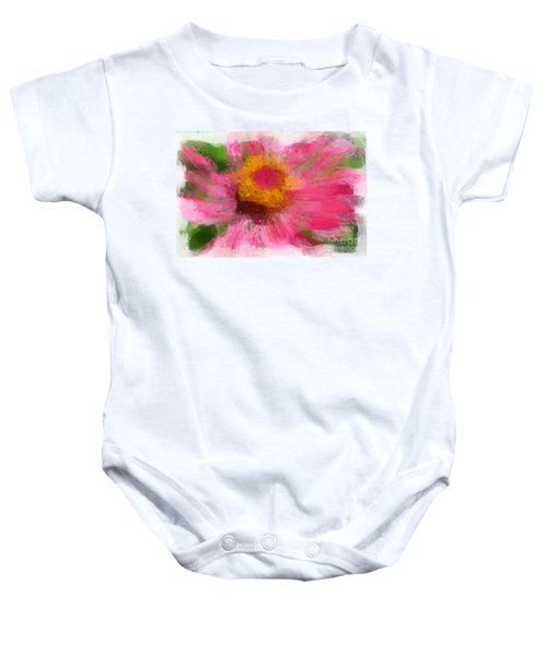 Abstract Flower Expressions Baby Onesie